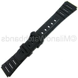 20mm Timex Black Rubber Fits Work-Out & Other Sports Mens Wa