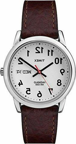Timex Men's Core Easy Reader Brown Leather Watch