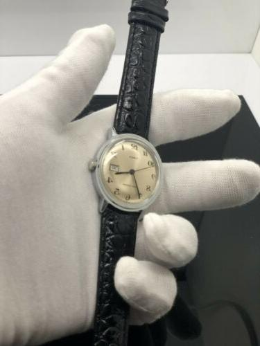 NEW OLD Timex Big Size Mens Manual Wind Tone Day