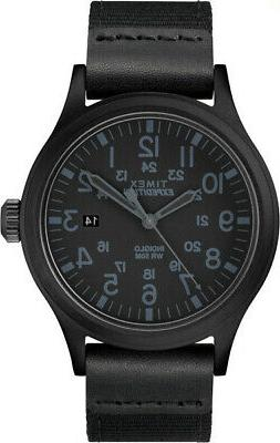 Timex Men's Expedition Scout 40mm Fabric Strap |Black| Watch