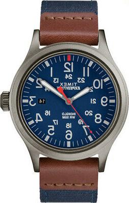 Timex Men's Expedition Scout 40mm Fabric Strap |Blue| Watch