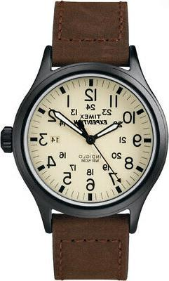 Timex Men's Expedition Scout 40mm Leather Strap |Brown| Dres