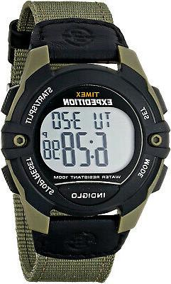 Timex Men's T49993 Expedition Full-Size Digital CAT Green Bl