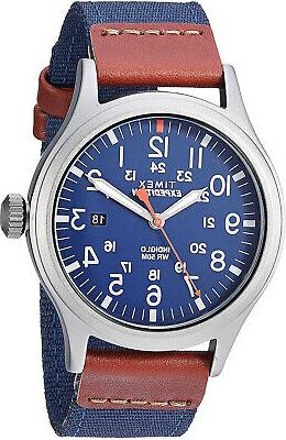 men s tw4b14100 expedition scout 40mm blue