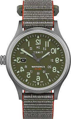 Timex Men's TW4B18600 Expedition Scout Solar 40mm Green Silv
