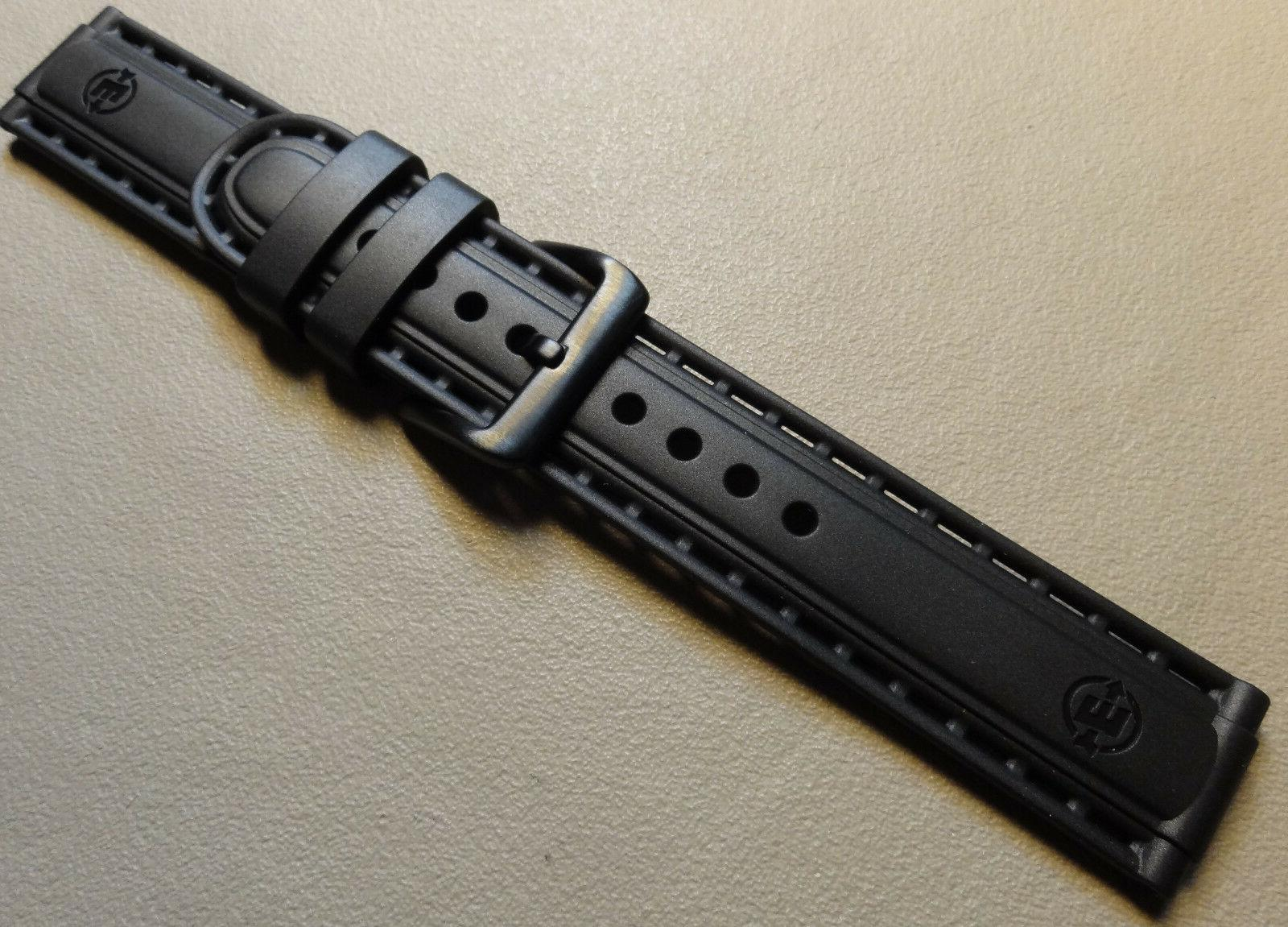Black T49803 Dive Style Sport Watch Band