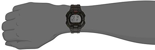 Timex Men's T5K822 Classic 30 Full-Size Black/Red Accent