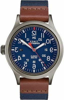 tw4b14100 men s expedition blue fabric watch