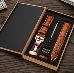 Leather Mens Watch Strap Band For Tissot Citizen Timex Oris