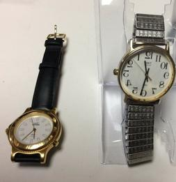 Lot of 2 Timex mens watches,one super clean,other has wear,p