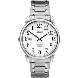 Timex Men's Easy Reader Date 38mm Expansion Band |Silver-Ton