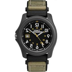 Timex Men's Expedition | Gray Case & Green Strap Black Dial
