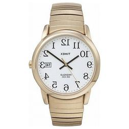 Men's Gold Tone Timex Watch with Date, Indiglo Light