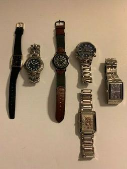 Men's Misc. Watch Lot Fossil Timex Swiss + More