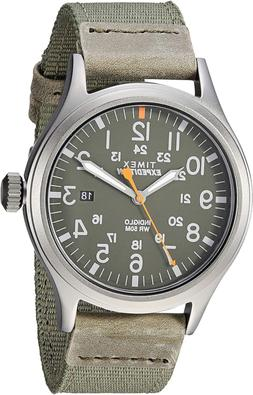 Timex Men'S Tw4B14000 Expedition Scout 40Mm Green/Gray Leath