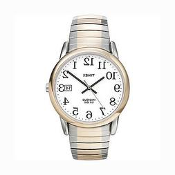 Men's Two Tone Timex Watch with Date, Indiglo Light, Bright,