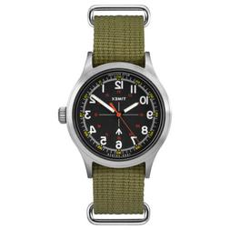 Timex Men's Watch Todd Snyder Military Black Dial Green Stra
