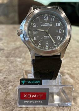 TIMEX MENS WATCH T40091 EXPEDITION METAL Olive Green Dial NY