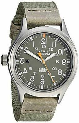 New Timex Men's Expedition Scout 40mm Fabric Strap Green Wat