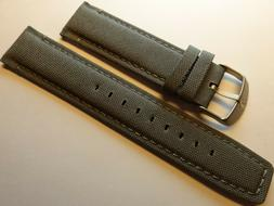 New Mens Timex Expedition Gray 22mm Padded Sport Watch Band