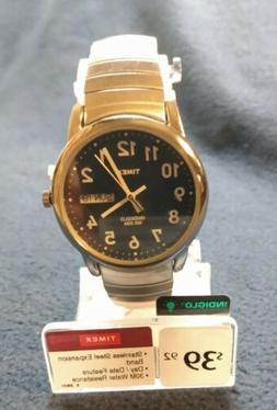 New w Tags Timex Easy Reader, Men's, Silvertone Expansion, I