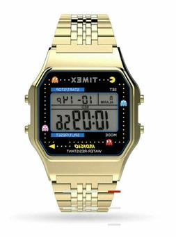 TIMEX T-80 PAC-MAN GOLD TONE STAINLESS STEEL 34MM WRISTWATCH