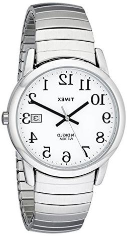 Timex Men's T2H451 Easy Reader Silver-Tone Stainless Steel E