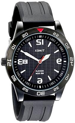 """Timex Men's T2N694 """"Elevated Classics"""" Watch with Black Resi"""