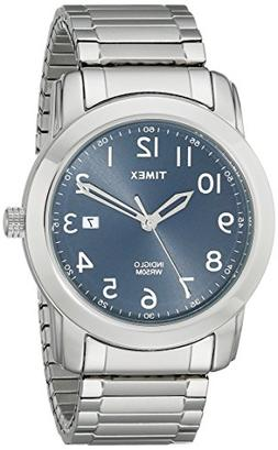 Timex Men's T2P132 Highland Street Silver-Tone Stainless Ste