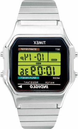 Timex T78587, Men's Digital Silvertone Expansion Band Watch,