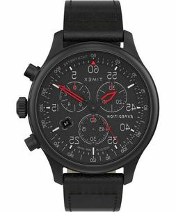 Timex TW2T73000, Field Expedition Chronograph Black Leather