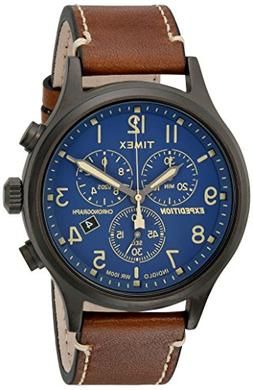 Timex TW4B09000, Men's Expedition Chronograph Leather Watch,
