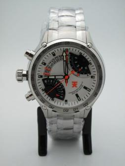Timex TX Flyback White Dial Chronograph Compass 2nd Time Zon