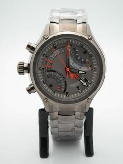 Timex TX Men's Flyback Gunmetal Chronograph Compass 2nd Time