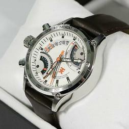 TX Stainless Steel Pilot Fly Back Chronograph Dualtime Men's
