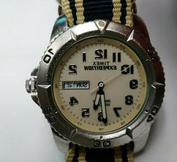 VERY nice large mens timex sport expedition wrist watch work
