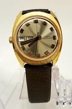 VINTAGE MEN'S 70'S TIMEX AUTOMATIC DAY AND DATE..WORKING GOO