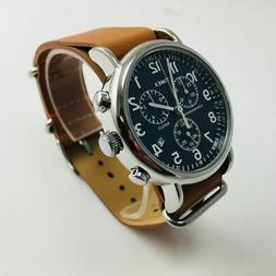 Timex Weekender Forty Chrono Watch, Tan Leather NATO-Style S